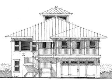 Beach Home Plan, 052H-0012