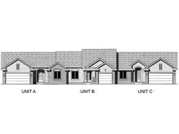 Triplex Home Plan, 031M-0022