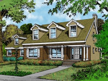 2-Story Home Plan, 043H-0123