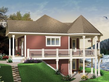 Vacation Home Plan, 027H-0389