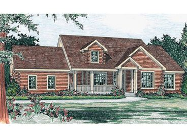 Log Home Plan, 031L-0010