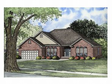 Ranch Home Design, 025H-0135