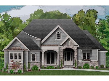 European House Plan, 049H-0001