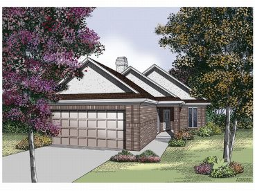 Narrow Lot House Plan, 021H-0061