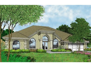 Sunbelt House Design, 043H-0110