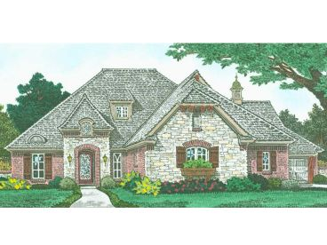 European House Plan, 002H-0138