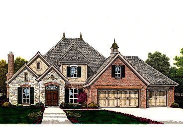 Luxury European Home, 002H-0108