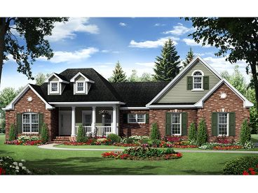 Ranch Home Plan, 001H-0181
