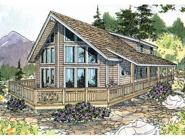 A-Frame Home Plan, 051H-0085