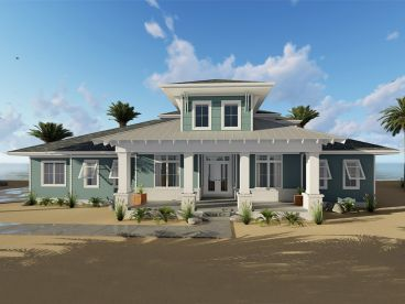Coastal House Plan, 050H-0131