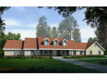 1-Story Country Home, 026H-0117