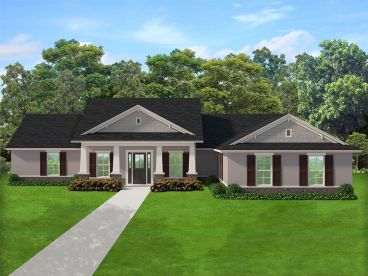 One-Story House Plan, 064H-0120