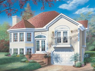 Narrow Lot Home Plan, 027H-0210