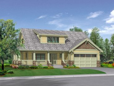 Country Craftsman Home, 035H-0004