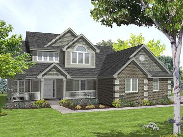 Two-Story House Plan, 016H-0030