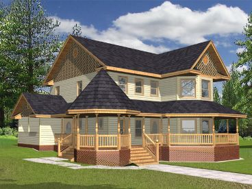 Victorian House Plan, 012H-0077