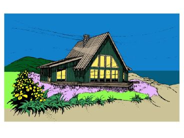 A-Frame House Plan, 013H-0003