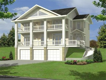 Sloping Lot Home Plan, 012H-0108