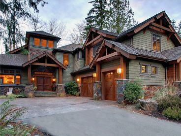 Craftsman house plans the house plan shop for Craftsman log home plans
