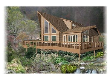 A-Frame House Design, 006H-0046