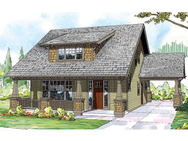 Craftsman House Plan, 051H-0193