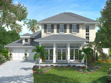 Two-Story Home Plan, 037H-0194