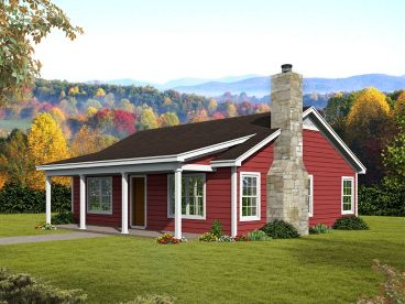 Cabin House Plan, 062H-0173