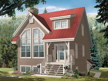 Narrow Lot House Plan, 027H-0287