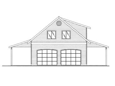 Garage Plan with Carport, 012G-0047