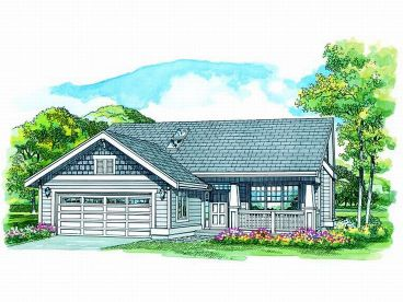 Bungalow House Plan, 032H-0081