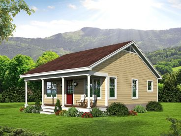 Cottage House Plan, 062H-0190