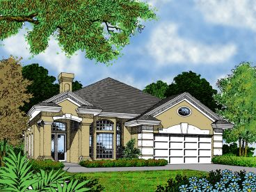 Narrow Lot House Plan, 043H-0040