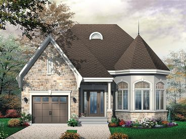European House Plan, 027H-0186