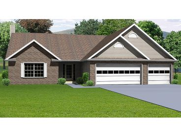 One-Story Home Plan, 048H-0032