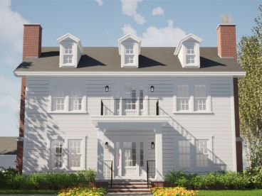 Colonial House Plan, 052H-0044