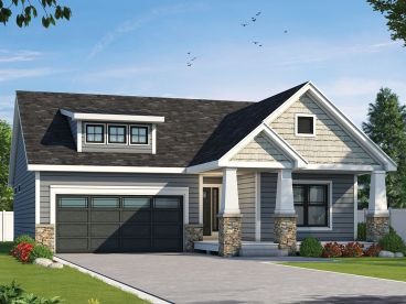 Bungalow House Plan, 031H-0397