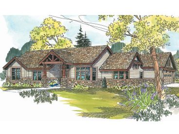 1-Story Craftsman House, 051H-0134
