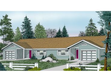 Duplex House Plan, 026M-0004