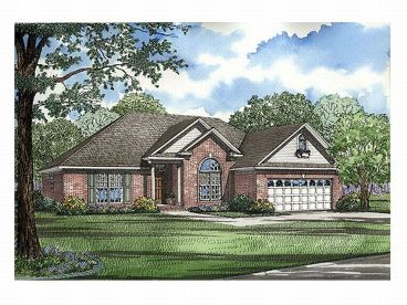 Ranch Home Plan, 025H-0077