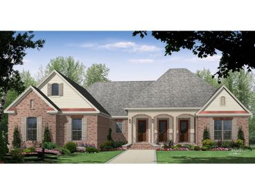 European House Plan, 001H-0218