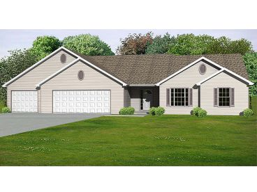 Ranch Home Plan, 048H-0068