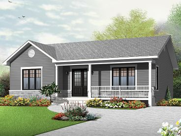 Empty-Nester Home Plan, 027H-0371