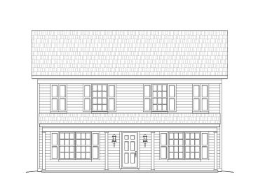 Narrow Lot Home Plan, 062H-0040
