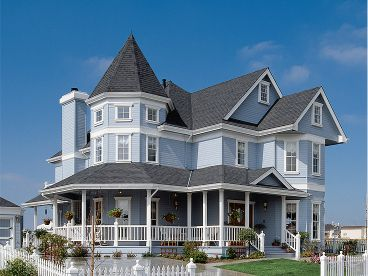 Country Victorian Home, 054H-0130