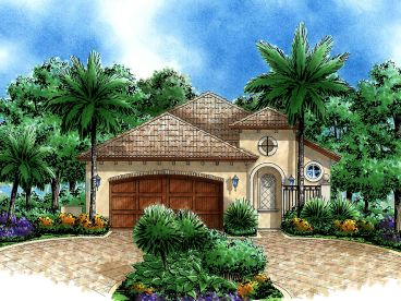 Narrow Lot Home Plan, 040H-0074