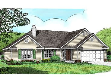 Traditional House Plan, 044H-0002