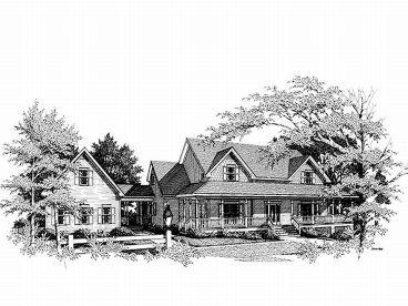 Country House Plan, 007H-0106