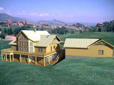 Mountain House Plan, 012H-0088