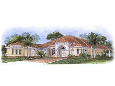 Florida Style Home Plan, 037H-0095