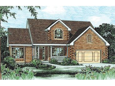 Log Home Plan, 031L-0006